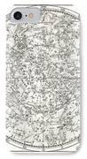 Star Map, 1805 IPhone Case by Detlev Van Ravenswaay