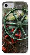 Steampunk - Machine - Transportation Of The Future IPhone Case by Mike Savad