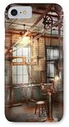Steampunk - Machinist - The Grinding Station IPhone Case by Mike Savad