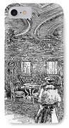 Steamship Salon, C1890 IPhone Case by Granger