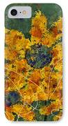 Stimuli Floral - S04ct01 IPhone Case by Variance Collections