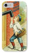 Stove Polish Trade Card IPhone Case by Granger