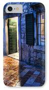 Street Scene In Ancient Kotor Montenegro IPhone Case by David Smith