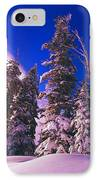 Sunrise Over Snow-covered Pine Trees IPhone Case