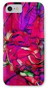 Swirly Fabric Flower IPhone Case by Judi Bagwell