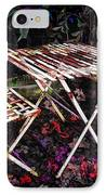 Table And Chairs IPhone Case by Joan  Minchak