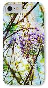 Tangled Wisteria IPhone Case by Andee Design