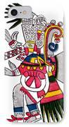 Tezcatlipoca, Aztec God Of Night, Codex IPhone Case by Photo Researchers
