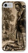The Death Of Pontiac, 1769 IPhone Case by Photo Researchers