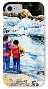 The Kayak Racer 14 IPhone Case by Hanne Lore Koehler