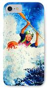 The Kayak Racer 16 IPhone Case by Hanne Lore Koehler