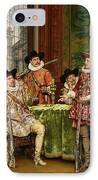 The Musketeer's Tale IPhone Case by Adolphe Alexandre Lesrel