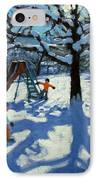 The Slide In Winter IPhone Case by Andrew Macara