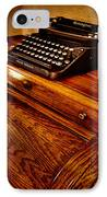 The Typewriter IPhone Case by David Patterson