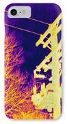 Thermogram Of Electrical Wires IPhone Case by Ted Kinsman