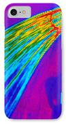 Thermogram Of Water Pouring From A Shower Head IPhone Case