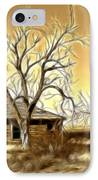 This Old House Fractal IPhone Case by Donna Greene