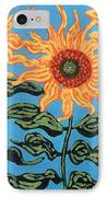 Three Sunflowers IIi IPhone Case by Genevieve Esson