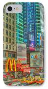 Times Square One IPhone Case by Alberta Brown Buller