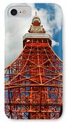 Tokyo Tower Face Cloudy Sky IPhone Case