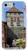 Tower In Old Town Rottweil Germany IPhone Case by Matthias Hauser