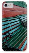 Train Station Waiting Area IPhone Case by Paul Ward