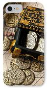 Treasure Box With Old Pistol IPhone Case by Garry Gay