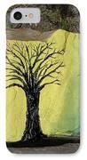 Tree With Lovebirds IPhone Case by Monika Shepherdson