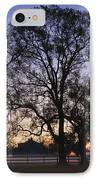 Trees And Fence In The Mist IPhone Case by Jeremy Woodhouse