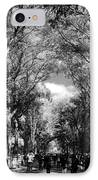 Trees On The Mall In Central Park In Black And White IPhone Case