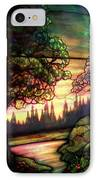 Trees Stained Glass Window IPhone Case