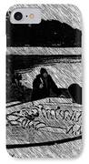Turr Hunt Sketch IPhone Case by Barbara Griffin