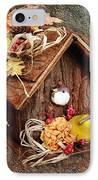 Tweet Little Bird House IPhone Case by Andee Design