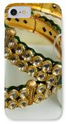Two Green And Gold Bangles On Top Of Each Other IPhone Case by Ashish Agarwal
