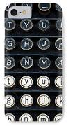 Typewriter Keyboard IPhone Case by Hakon Soreide