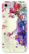 Uma Thurman IPhone Case by Naxart Studio