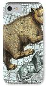 Ursa Major Constellation, Bode Star Atlas IPhone Case by Detlev Van Ravenswaay