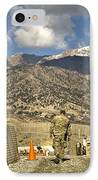 U.s. Army Soldier Walks Down A Path IPhone Case by Stocktrek Images