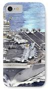 Uss Abraham Lincoln Transits IPhone Case