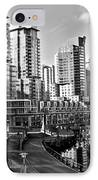 Vancouver Harbour Bw IPhone Case