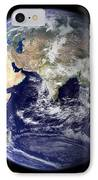 View Of The Earth From Space Showing IPhone Case by Stocktrek Images