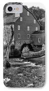 Vintage Mill In Black And White IPhone Case