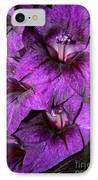 Violet Glads IPhone Case