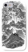 Volcanic Eruption, Artwork IPhone Case by Bill Sanderson