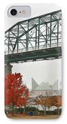 Walnut Street Bridge IPhone Case by Tom and Pat Cory