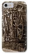 Water Mill In Action IPhone Case by Douglas Barnett