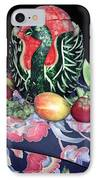 Watermelon Swan IPhone Case by Sally Weigand