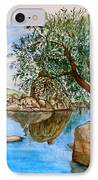 Watson Lake Prescott Arizona Peaceful Waters IPhone Case by Sharon Mick