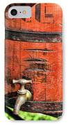 Weathered Red Oil Bucket IPhone Case