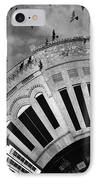 Wee Bryan Texas Detail In Black And White IPhone Case by Nikki Marie Smith